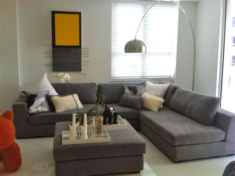 grey sectional living room ideas carlos modern sectional in grey 1639 contemporary