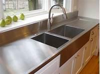 stainless steel counter Choosing Countertops: Stainless Steel   DIY