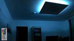 Deckenlampe Mit Led : rgb led deckenlampe indirekte beleuchtung youtube ~ Whattoseeinmadrid.com Haus und Dekorationen