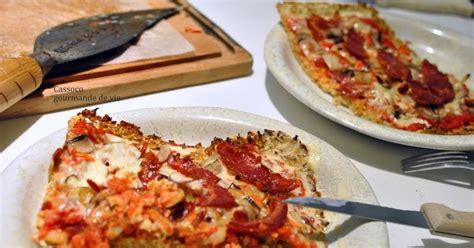 cassoco gourmande de vie pizza pate au chou fleur sans gluten