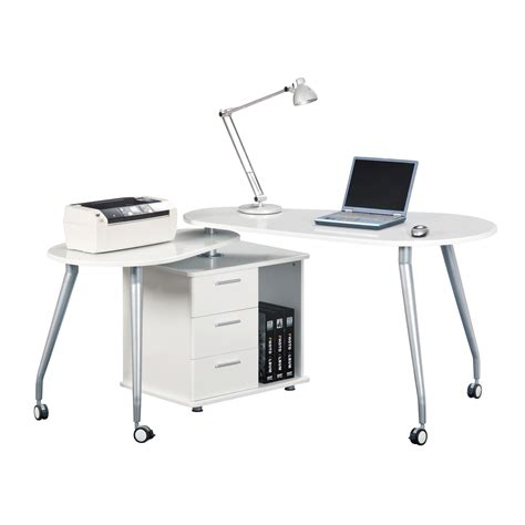 techni mobili modern rotating computer desk with storage