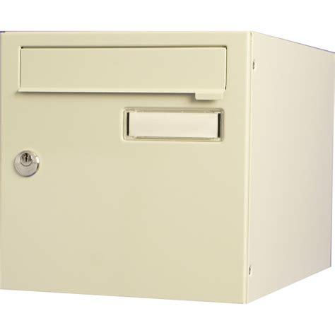 bo 238 te aux lettres normalis 233 e la poste 1 porte renz interval acier beige leroy merlin