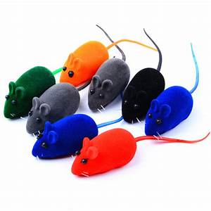 10pcs/lot Cat Toy Mouse Small Rodents Mouse Stuffed Toys ...