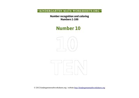 Kindergarten Math Numbers 1100 Coloring  Kindergarten Math Worksheets Org
