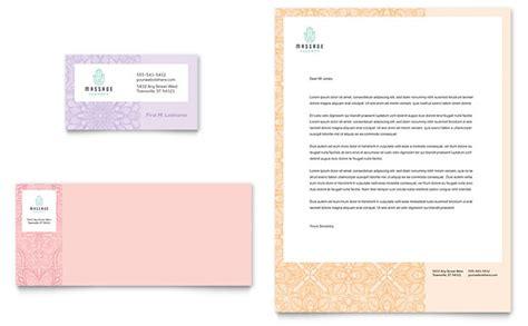Massage Business Card & Letterhead Template