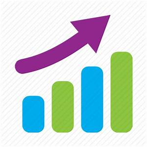 Barchart, graph, increase, rise, stats, trend icon   Icon ...