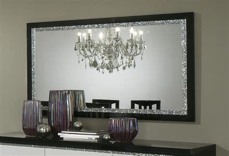 miroir de salle 224 manger design 140 cm laqu 233 noir miroir autres meubles salle a