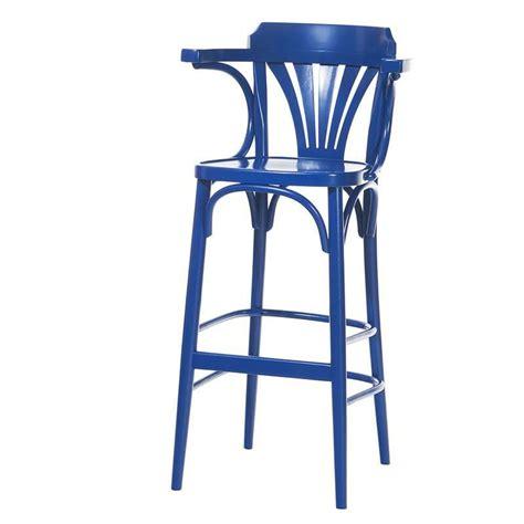 tabouret en bois avec accoudoirs style bistrot 135 4 pieds tables chaises et tabourets