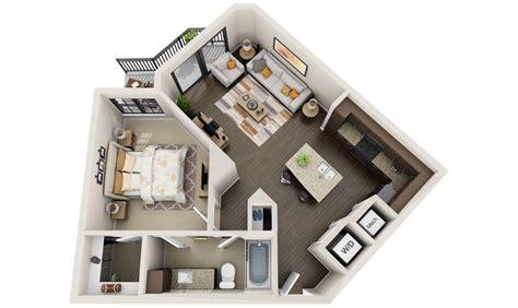 3d floor plan image 2 for the 1 bedroom studio floor plan 3d floor plans for apartments get your quote now