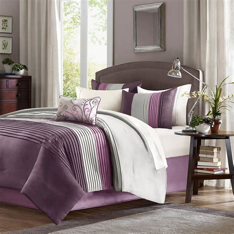 Lavender And Grey Bedding by Total Fab Purple Plum Colored Bedding Warm Opulent