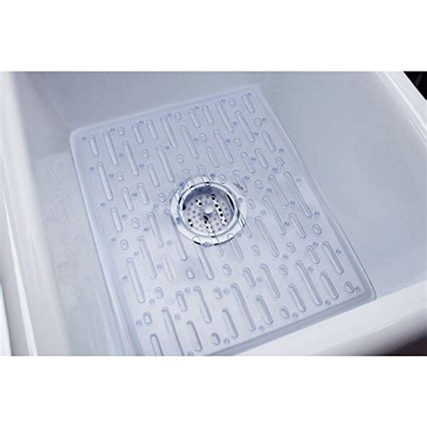 rubbermaid evolution antimicrobial sink mat large clear hardware plumbing plumbing fixtures
