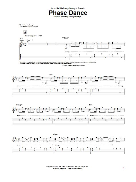 phase guitar tab by pat metheny guitar tab 151652