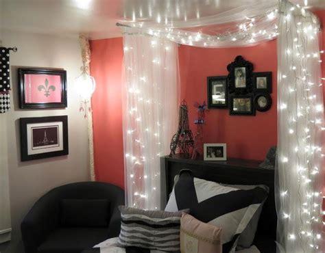 Teen Bedroom, Paris Pink, Fairy Lights, Black And Pink