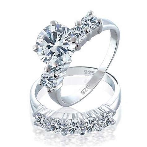925 Sterling Silver Round Cz Engagement Wedding Ring Set. Sunburst Wedding Rings. Karat Gold Engagement Rings. Romantic Rings. King Crown Rings. Engraving Rings. Vintage Wedding Band Wedding Rings. Open Heart Rings. Hop Engagement Rings