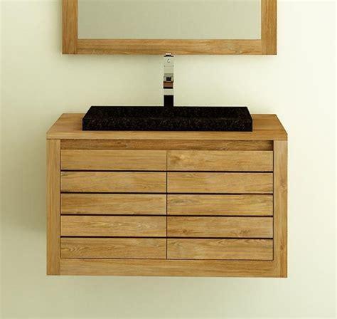 meuble de salle de bain 224 suspendre en teck molene 55 cm id 233 al pour les petites salles de bain