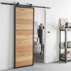 tout style industriel pour une porte coulissante en bois et alu with kit porte coulissante