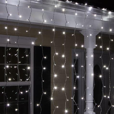 Led Christmas Lights  150 5mm Cool White Curtain Led