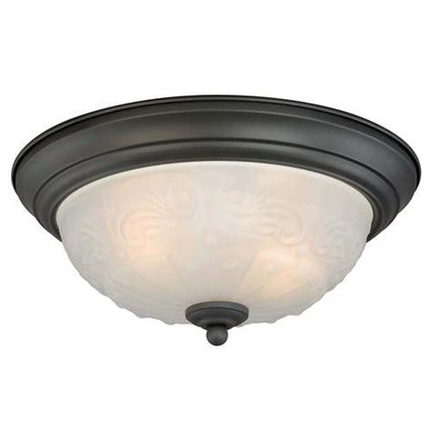 amalia 2 light 13 quot rubbed bronze ceiling light 2 pack at menards 174