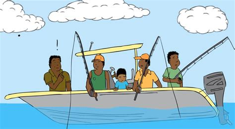 Cartoon Man In A Boat by Animated Fishing Boat Www Pixshark Images