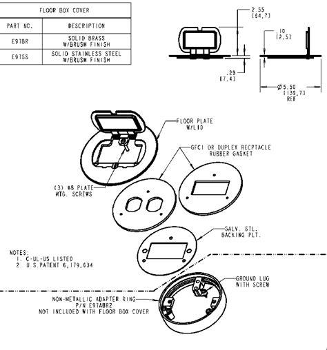 Carlon Floor Box E971fb by Carlon E97abr2 Adapter Ring For Brass Covers