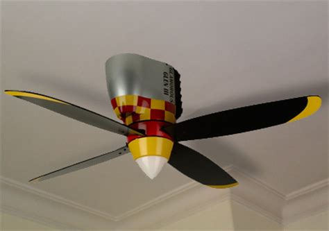 airplane propeller ceiling fan cool kaboodle