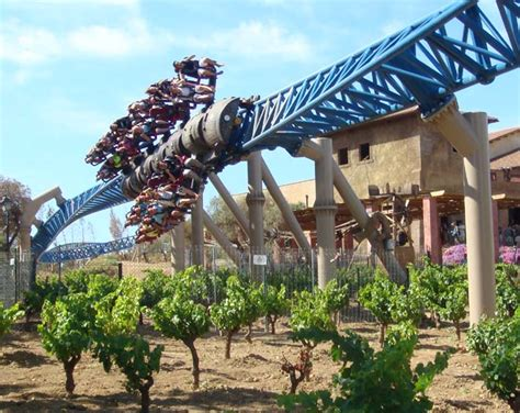 inline twist a vineyard on furius baco at portaventura in salou catalonia spain photo