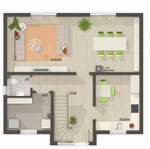 Fertighaus Bungalow 120 Qm : lifestyle 120 grundriss erdgeschoss ihr fertighaus von town country haus ~ Markanthonyermac.com Haus und Dekorationen
