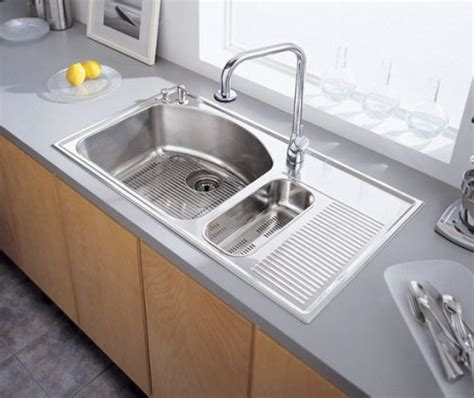 stainless steel kitchen sink with drainboard kitchenidease