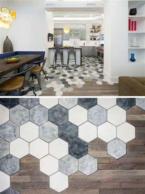 le carrelage hexagonal une tendance qui fait grand retour