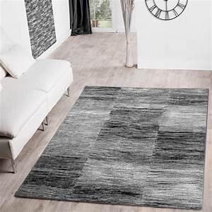 Türkische Teppiche Modern : moderner wohnzimmer teppich grau schwarz anthrazit meliert karo design kurzflor moderne teppiche ~ Markanthonyermac.com Haus und Dekorationen