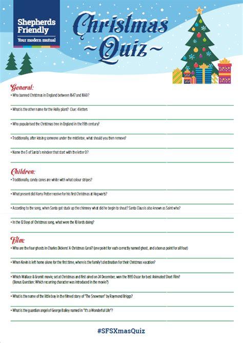 Christmas Quiz For The Family [printable]