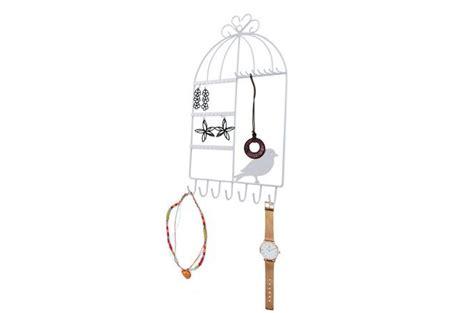 porte bijoux mural en m 233 tal cage a oiseaux blanc pia porte bijoux pas cher