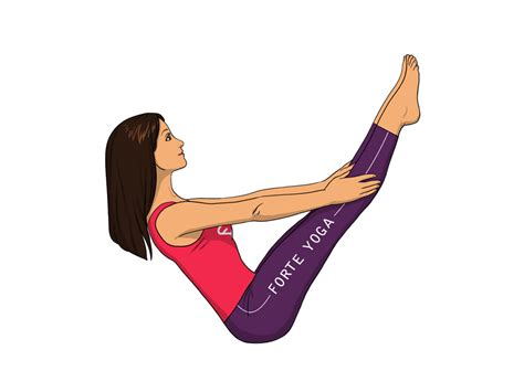 Boat Pose Full by Full Seated Boat Yoga Pose Forte Yoga