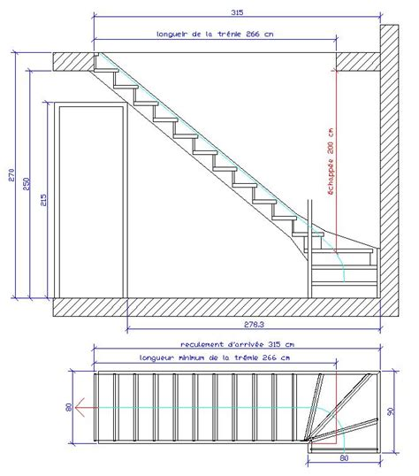calcul d un escalier multi volees