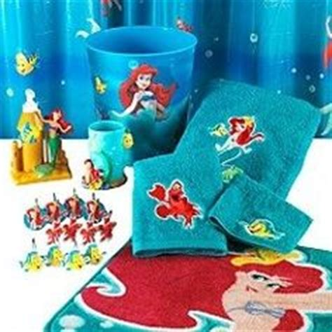 21pc disney mermaid shower curtain bath accessory