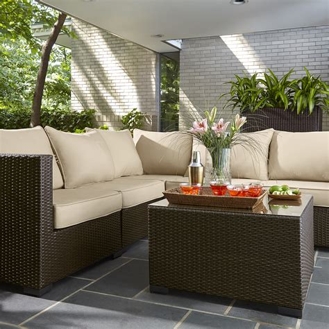 grand resort osborn 6pc sectional seating set limited availability outdoor living