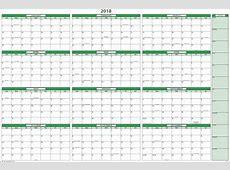 Yearly Calendar 2018 Printable year printable calendar