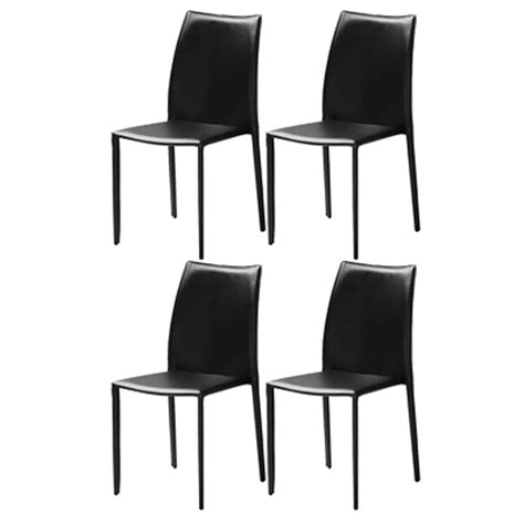 chaise cuir noir design bricolage maison et d 233 coration