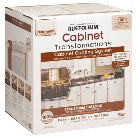 rust oleum transformations 1 qt white cabinet small kit 298060 the home depot