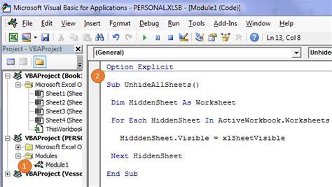 Unhide Multiple Worksheets In Excel