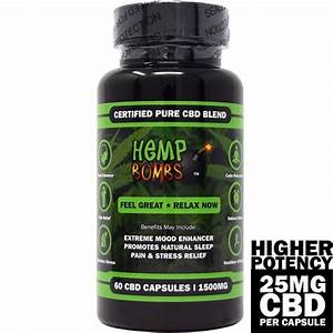60 Count Higher Potency CBD Capsules - Hemp Bombs CBD