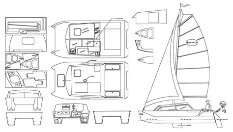 Catamaran Plans Plywood by Plywood Beach Catamaran Plans Antiqu Boat Plan