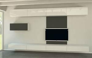 Sideboard Tv Versenkbar : moderne wohnwand my wohnidee ~ Markanthonyermac.com Haus und Dekorationen