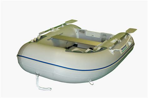 Inflatable Boat With Rigid Floor by 7 5 Ft Inflatable Boat Dinghy With Aluminum Floor Aquamarine