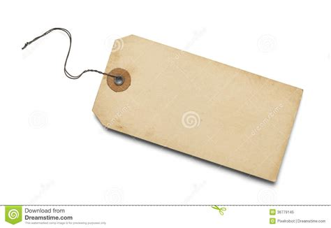 Old Blank Tag Stock Image. Image Of Background, Grunge