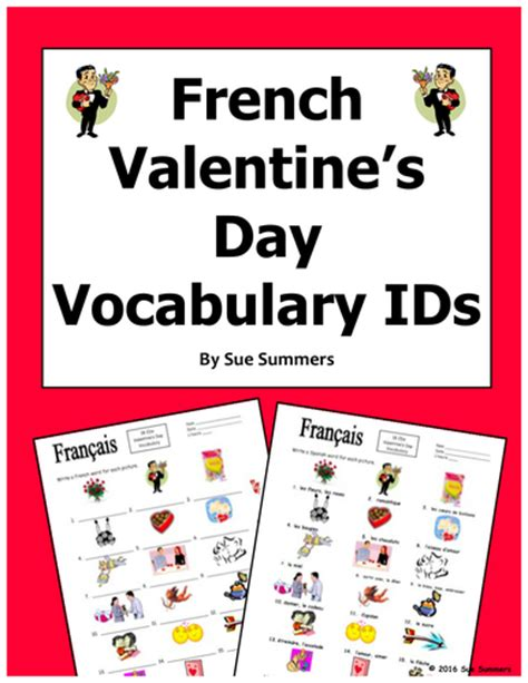 Joyeuse Saint Valentin Valentine's Day Vocabulary By