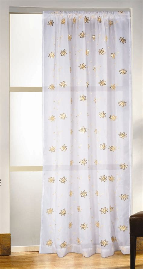 voile panels white gold voile curtain panel