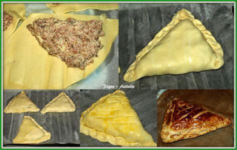 triangles feuillet 201 s au jambon et chignons pique assiette