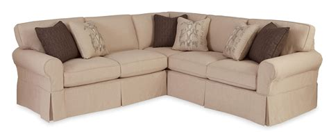Two Piece Slipcovered Sectional Sofa With Raf Return Sofa