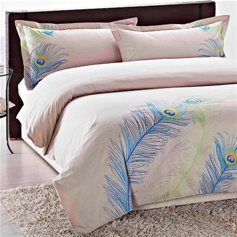 buy embroidered peacock king size 3 duvet